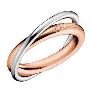 Prsten CALVIN KLEIN Double Silver Rose Gold
