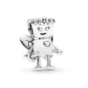 Přívěsek PANDORA Květinová robotka Bella