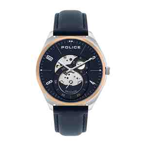 Pánské hodinky POLICE Kaizuka Dark Blue & Leather Strap