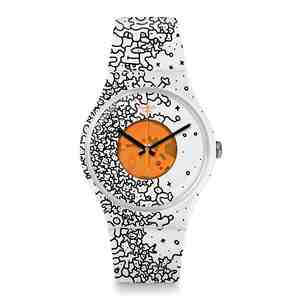 Unisex hodinky SWATCH Orange Pusher SUOW167
