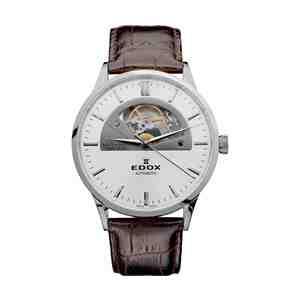 Pánské hodinky EDOX Les Vauberts Silver Brown