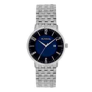 Pánské hodinky SUNDIAL Seven Link Bracelet Silver Blue