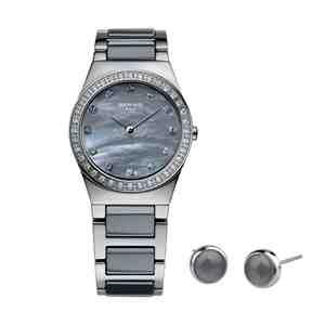 Dámský set BERING Ceramic 32426-789 hodinky a náušnice