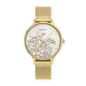 Dámské hodinky ENGELSRUFER Strom života Gold Strap