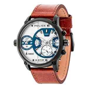 Pánské hodinky POLICE Taipan Light Brown Strap