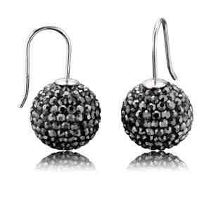 Náušnice ENGELSRUFER stříbrné s černými krystaly _S