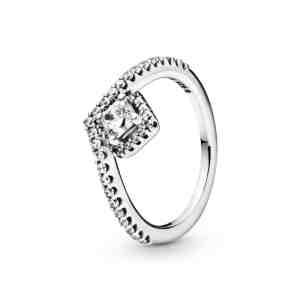 Prsten PANDORA Kost přání a hranatý třpyt