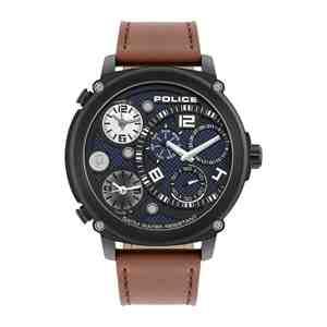 Pánské hodinky POLICE Sagano Brown Leather Strap