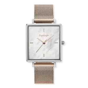 Dámské hodinky ENGELSRUFER Silver Rose Gold Strap