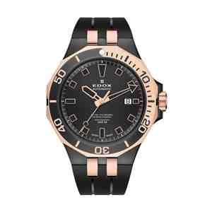 Pánské hodinky EDOX Delfin Black Rose Gold