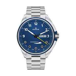Pánské hodinky EDOX Chronorally-S Silver Blue
