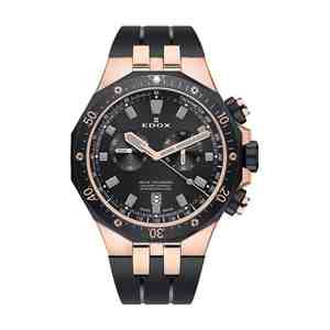 Pánské hodinky EDOX Delfin Rose Gold Black