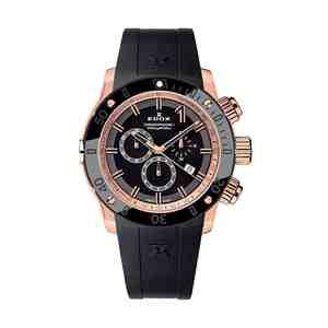 Pánské hodinky EDOX Chronoffshore 1 Rose Gold Black