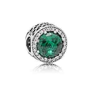 Přívěsek PANDORA Zelená zářivá srdce