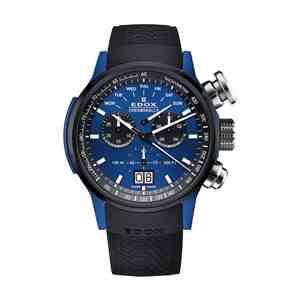 Pánské hodinky EDOX Chronorally Black Blue