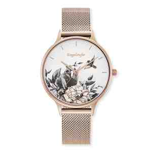 Dámské hodinky ENGELSRUFER Okouzlující zahrada Rose Gold