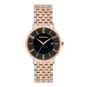 Dámské hodinky SUNDIAL Seven Link Bracelet Silver Gold Black