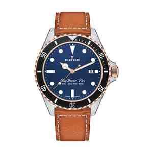 Pánské hodinky EDOX SkyDiver Silver Blue