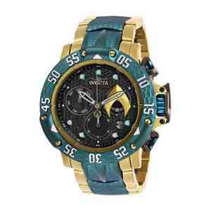 Pánské hodinky INVICTA DC Comics Aquaman Gold Green