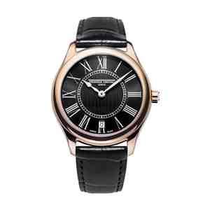 Dámské hodinky FREDERIQUE CONSTANT Classics Rose Gold Black