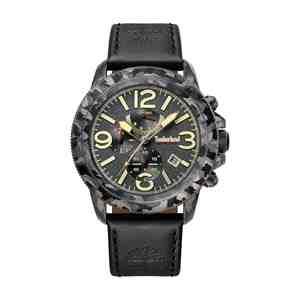 Pánské hodinky TIMBERLAND Ashbrook Black Leather Strap