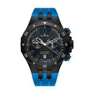 Pánské hodinky EDOX Delfin Black Blue