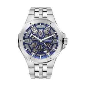 Pánské hodinky EDOX Delfin Mecano Silver Blue
