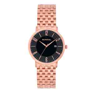 Pánské hodinky SUNDIAL Seven Link Bracelet Rose Gold