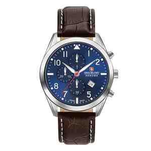 Pánské hodinky SWISS MILITARY HANOWA Helvetus Chrono Brown