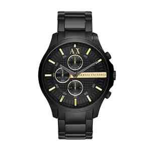 Pánské hodinky ARMANI EXCHANGE Hampton Black Gold