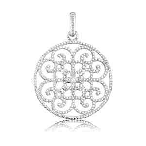 Přívěsek ENGELSRUFER Ornament stříbrný zdobený zirkony _S