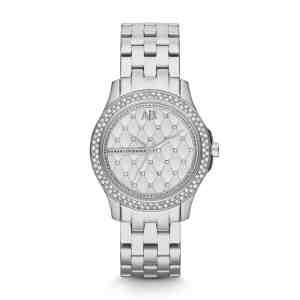 Dámské hodinky ARMANI EXCHANGE Lady Hampton Silver